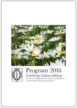 Program 2016 Göteborgs läkaresällskap
