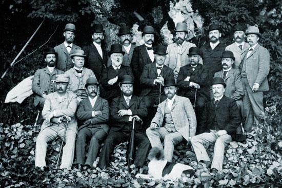 gruppbild Göteborgs läkaresällskap 1893
